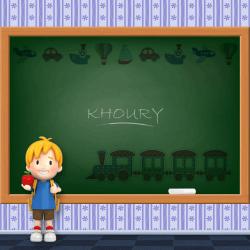Boys Name - Khoury
