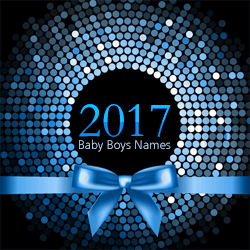 The top 100 baby boys names from 2017.